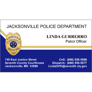 police badge blue and white - Police Business Cards
