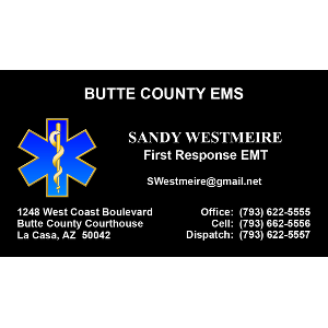 Rescue business cards star of life logo black background colourmoves