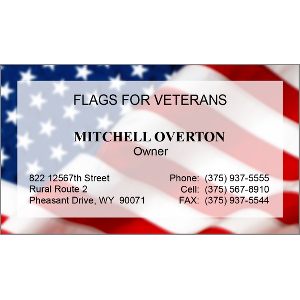 Patriotic business cards flag of the united states colourmoves